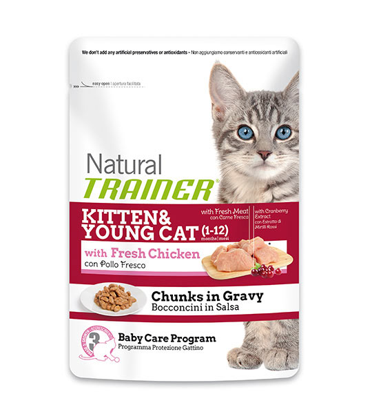NATURAL POUCHES KITTEN & YOUNG ΦΡΕΣΚΟ ΚΟΤΟΠΟΥΛΟ 85gr