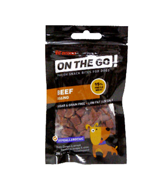 ON THE GO BEEF BITES 25gr