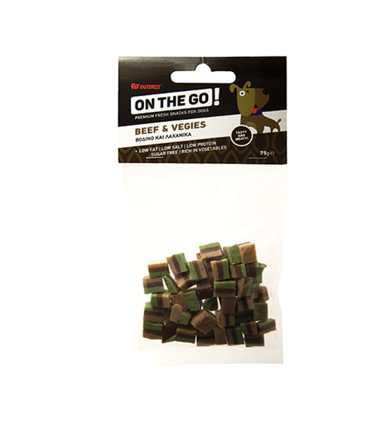 ON THE GO BEEF AND VEGIES BITES 75gr