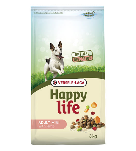 HAPPY LIFE ADULT MINI WITH LAMB 3 kg